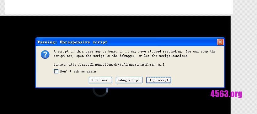 Firefox掛Ebesucher點數減少 ? 解決Warning : Unresponsive Script問題即可提升