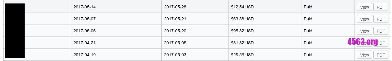 算一算目前手上3家服務器每月開支
