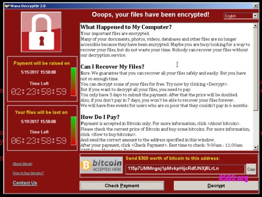 Wannacry 勒索病毒殺到  現提供各大Windows版本補丁直連下載
