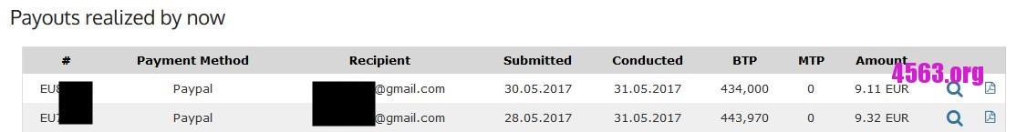 《Ebesucher 收款 9.11 EUR + 9.32 EUR 1-6-2017》