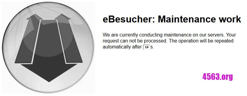 Ebesucher系統維護了 – eBesucher: Maintenance work