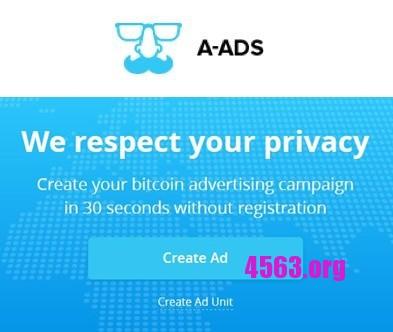A-ads一個賺Bitcoin的廣告聯盟 , 也是作弊者集中地~