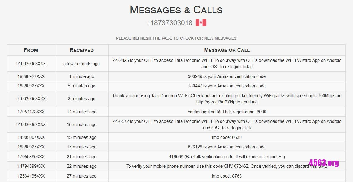 《免費線上接收SMS網站 - SMS Receive Free》