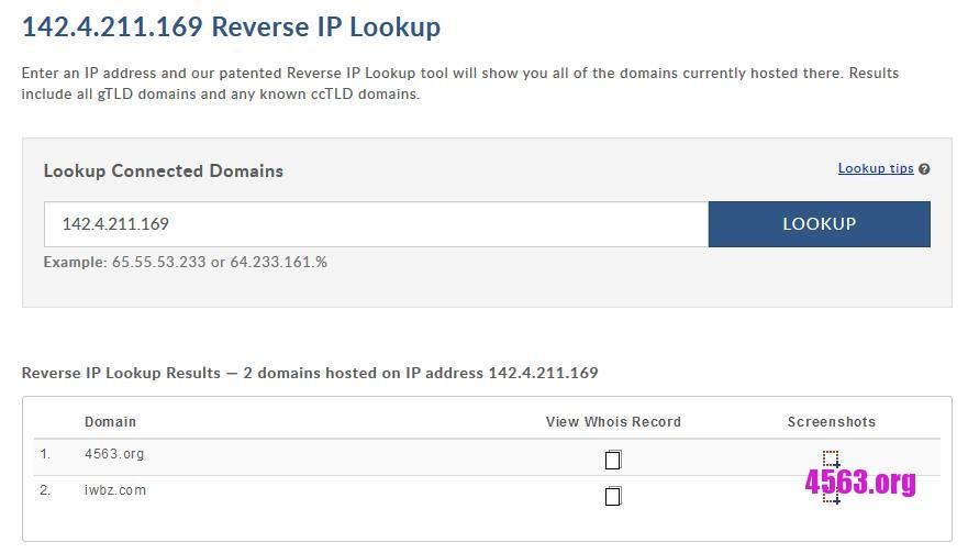 查看某個IP上綁定了什麼域名~