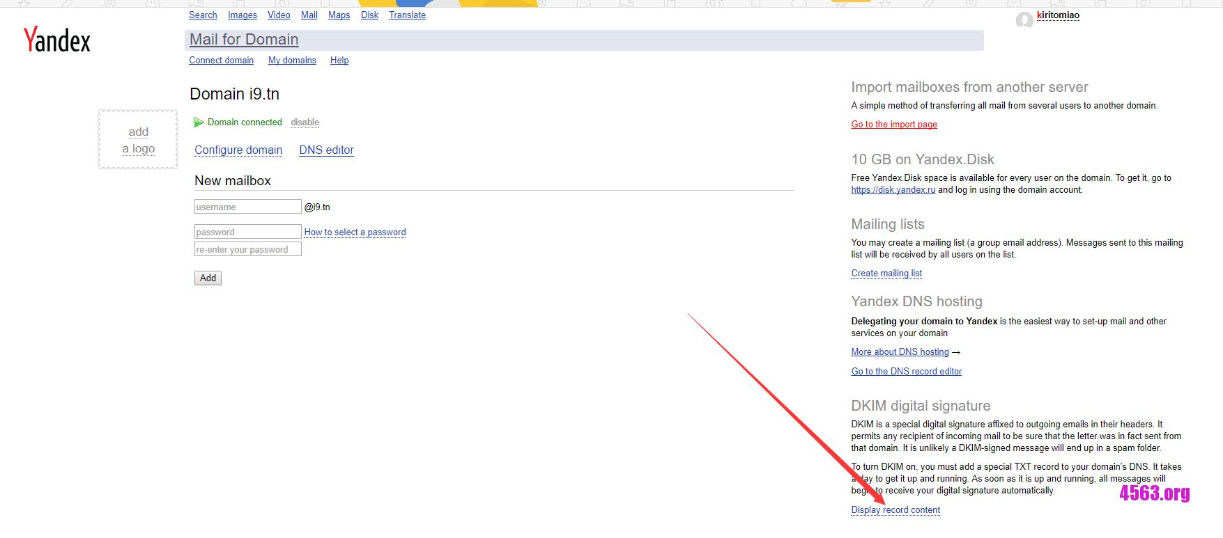 《免費郵箱Yandex Mail , 可以設置自己域名~》