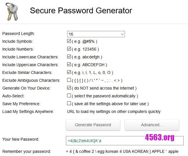 一款線上密碼生成器工具 , 隨機生成數字/字母/符號的密碼~