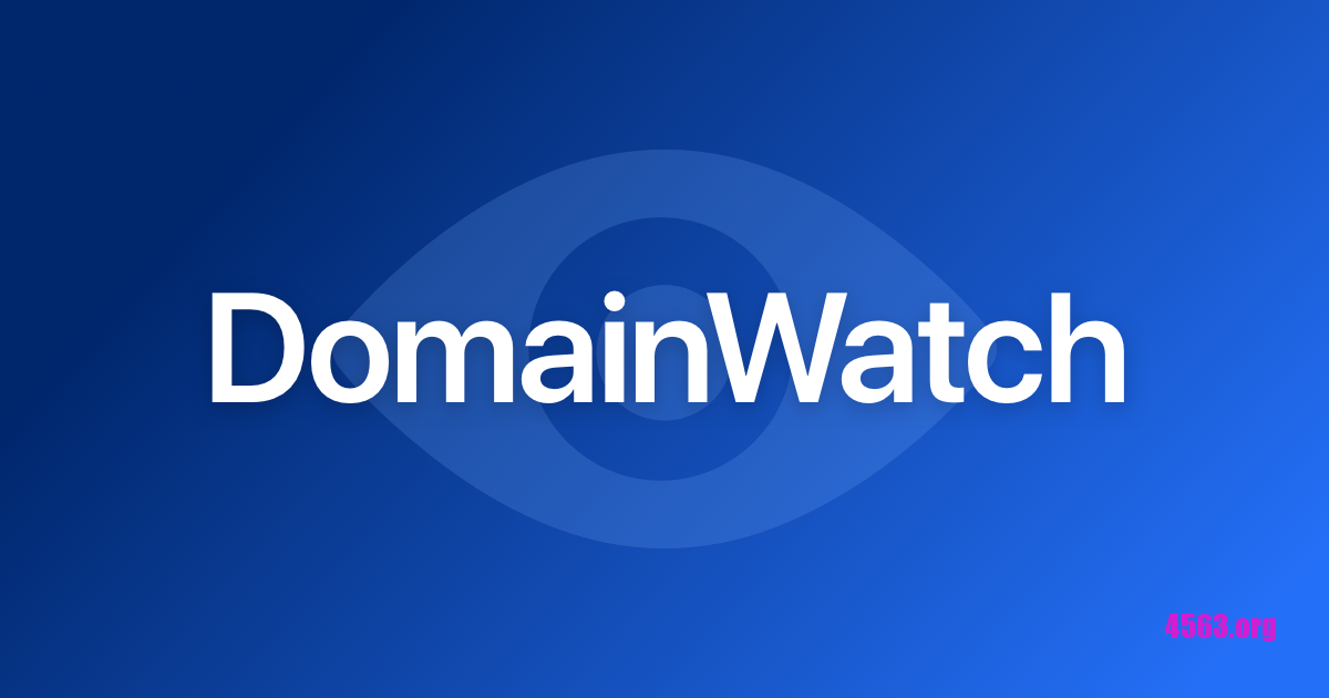 《DomainWatch 5分鐘檢測一次域名有否刪除,已刪除會電郵通知你》