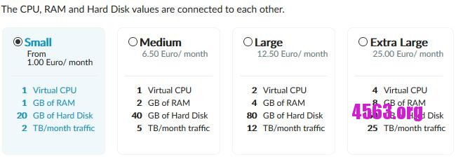 《Arubacloud傳家寶@1核心1G內存20G硬盤2T流量@隨機數據中心@1歐元》