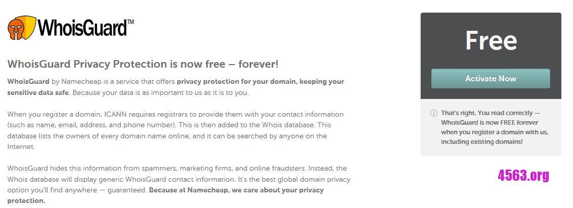 《因應GDPR政策下@Namecheap 5月29日起提供永久域名隱私保護@Free Privacy Protection for Life》