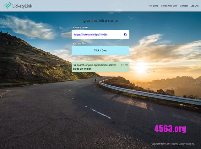 LicketyLink大檔案分享平台,產生連結直接上傳檔案@無限制