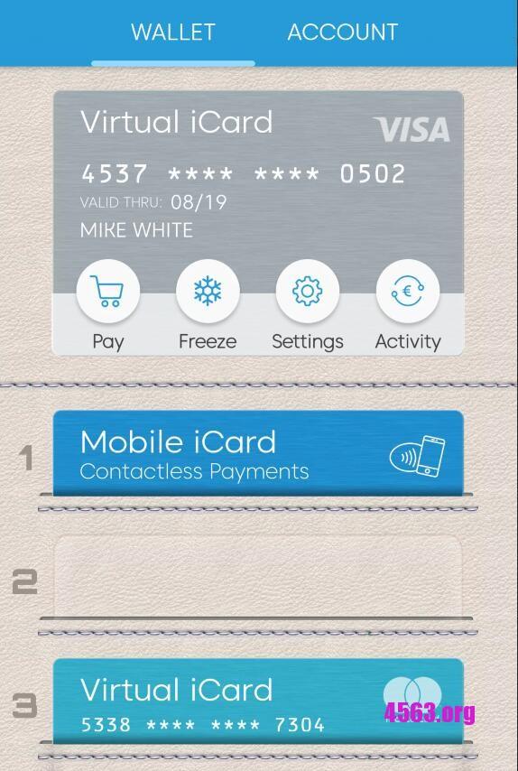 iCard:提供虚拟Visa & MasterCard 虚拟预付卡