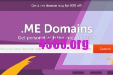 Namecheap .me域名促銷@3.88美元/首年