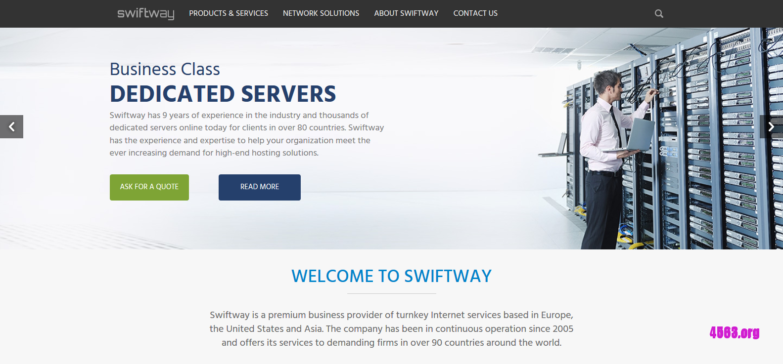 Swiftway荷兰独服@Dual 2620/64GB内存/8TB硬盘/10TB流量@$99/月