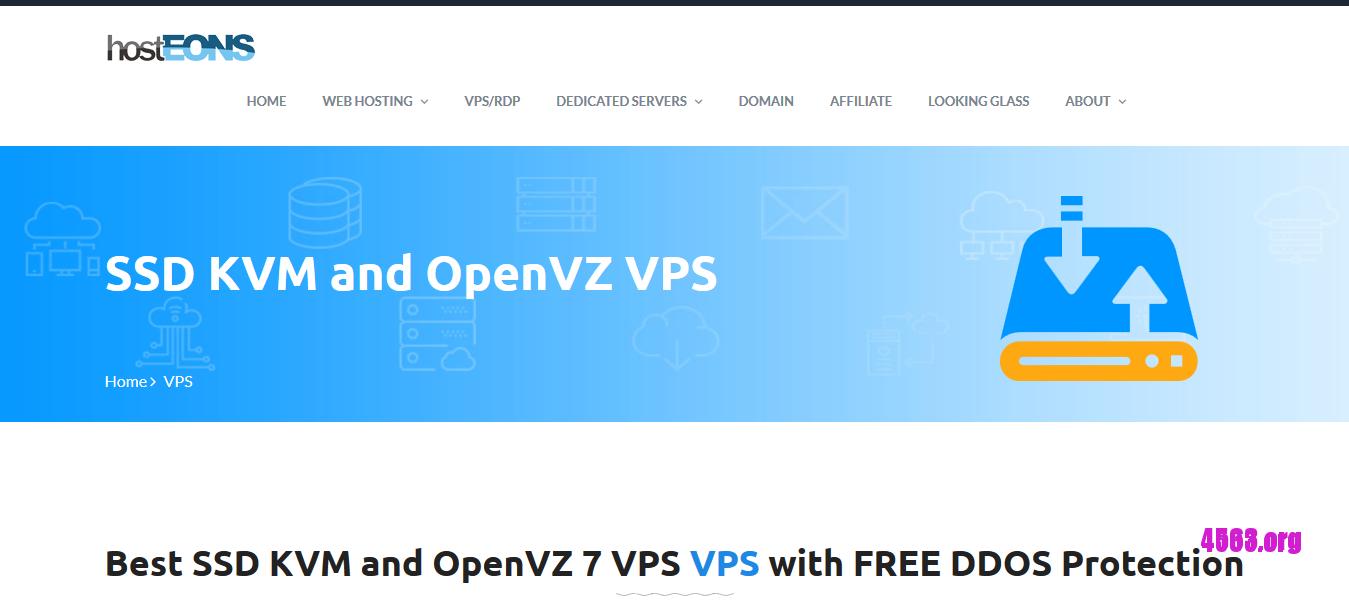 Hosteons洛杉矶KVM VPS@1核/512M内存/5G SSD/无限流量/100M端口/Psychz机房@$2.4/月