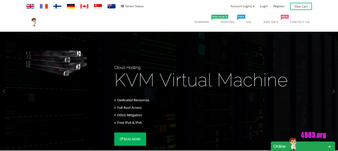 HostDoc KVM VPS@2G内存/100G硬盘/不限流量/1Gbps/英国OVH@24英镑/年