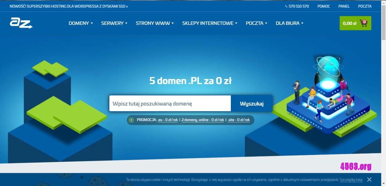 AZ.PL免費注册域名.site/ .waw.pl/.edu.pl后缀,一个账户可注册大量免费域名