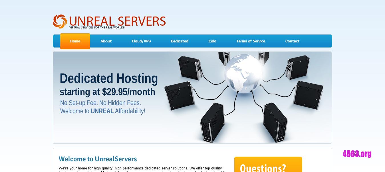 [特急獨服快訊]Unrealservers全线服务器25%折扣