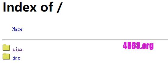 cPanel禁止显示文件目录列表