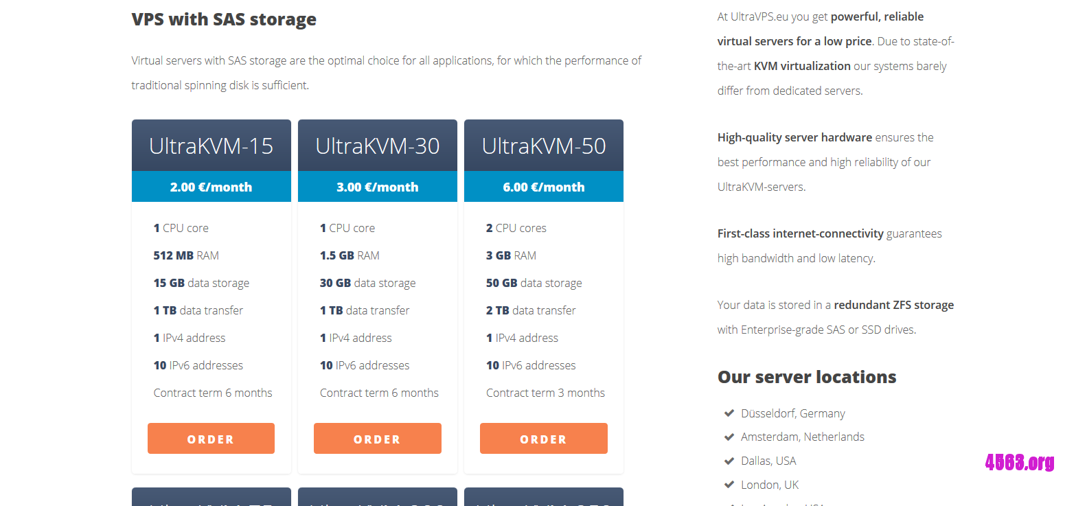 UltraVPS.eu立陶宛VPS@1核,512內存,15G硬盤,1TB流量@1.68欧元
