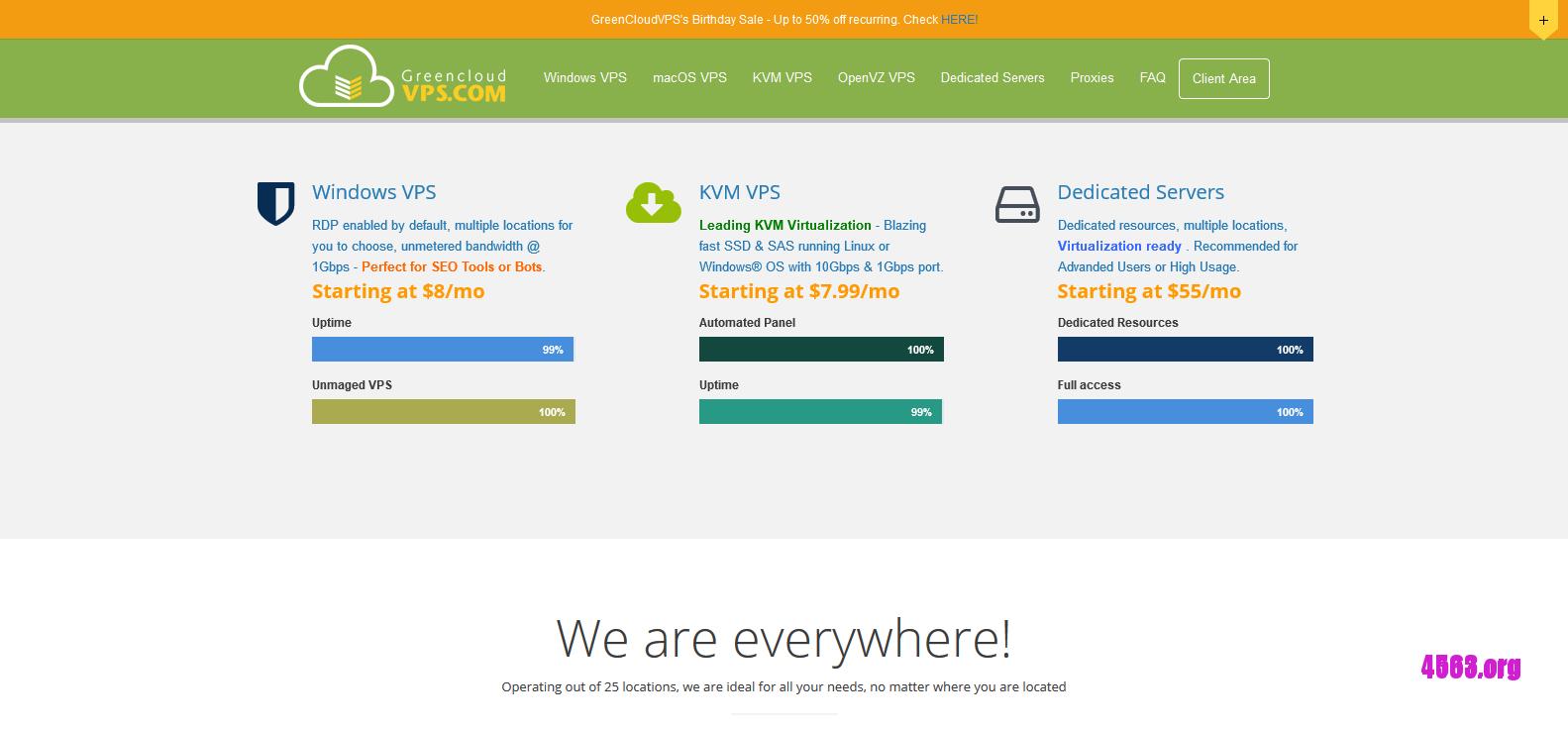 GreenCloudVPS洛杉矶KVM VPS@2GB内存/20GB SSD/2TB流量/10Gbps@$7/月