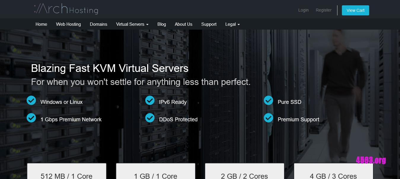 ArchHosting KVM VPS@E7 CPU,512M内存/洛杉矶QN机房@3.15美元/月