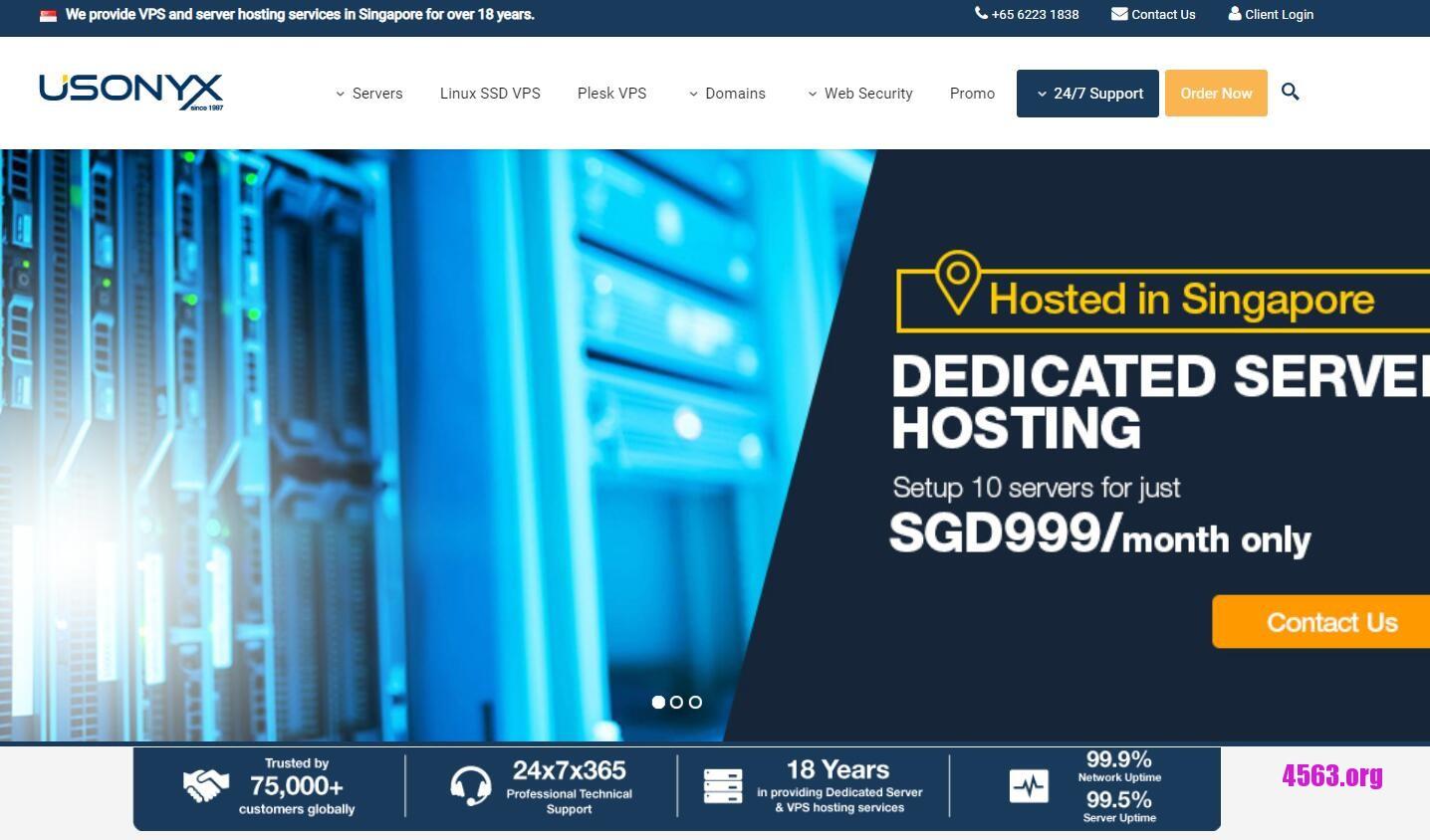 Usonyx五折優惠@新加坡KVM VPS@2核/2GB 内存/100Mbps@4美元/月