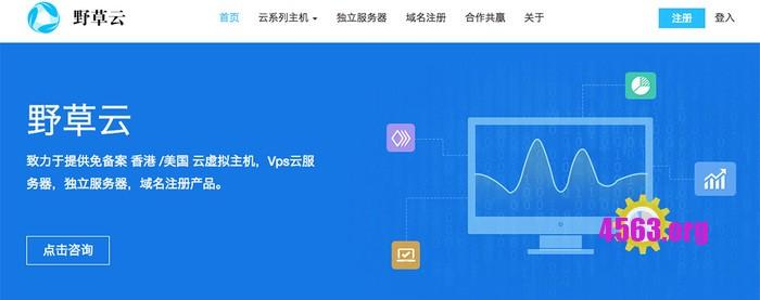 野草云 香港KVM VPS优惠/1G内存/20G/2Mbps 月付38元
