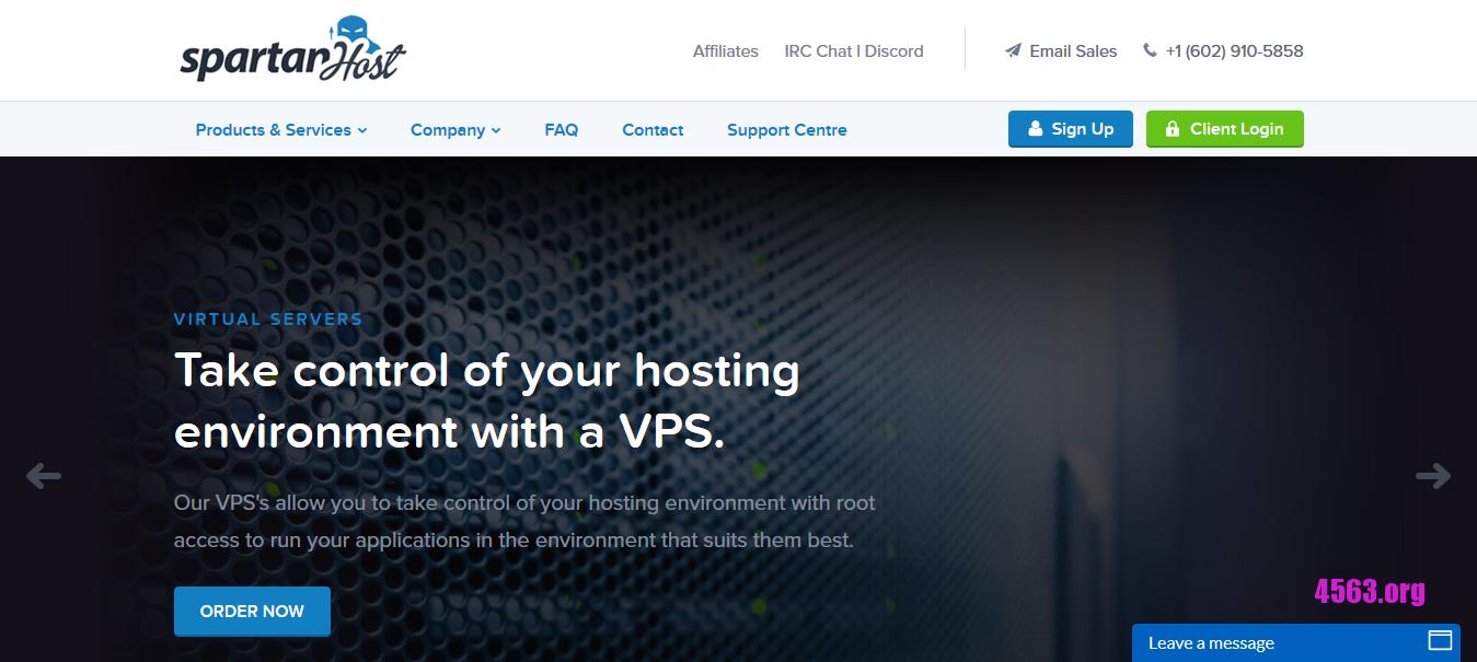SpartanHost西雅图服务器@E3-1270v2/16GB内存/1TB空间/10TB流量/DDOS@$48/月