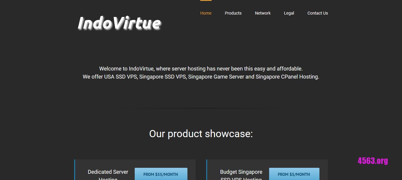 IndoVirtue新加坡KVM VPS@2GB/40GB SSD空间/2TB流量@$7/月
