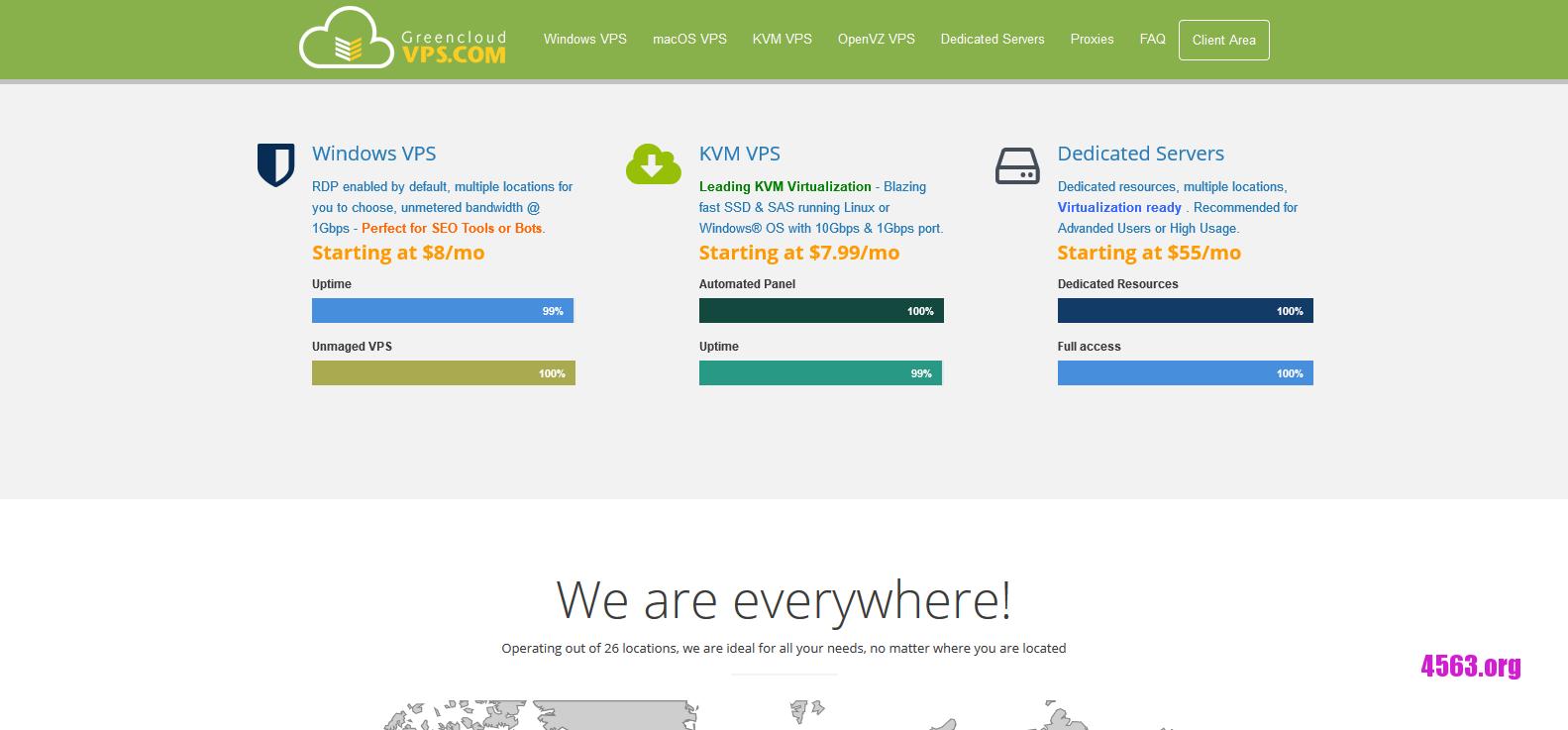 GreenCloudVPS:$7/月/2GB内存/30GB SSD/500GB流量/500Mbps/KVM/香港直连