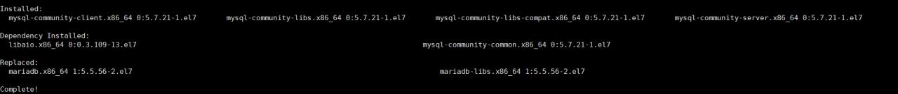 centos 7.x/6.x 64位/32位系统安装mysql数据库