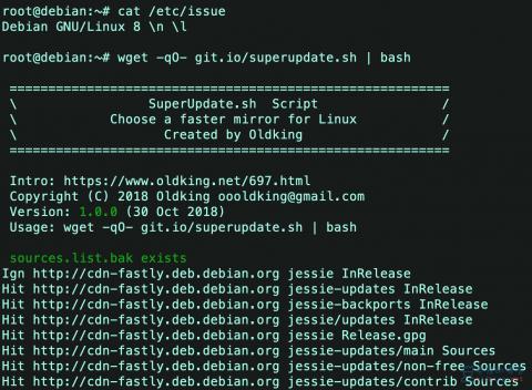 SuperUpdate.sh 一键更换Linux软件源脚本
