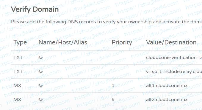 CloudCone:免费提供10GB空间的域名邮箱